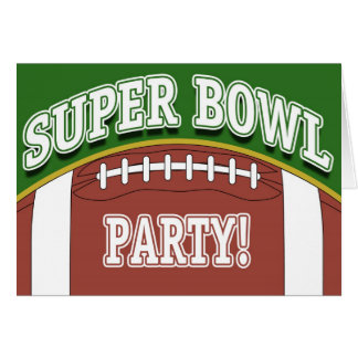 Super Bowl Party Cards