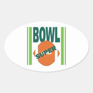 Super Bowl Oval Sticker