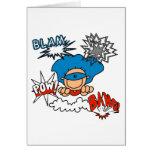 Super Boy Blam Bang Pow Greeting Card