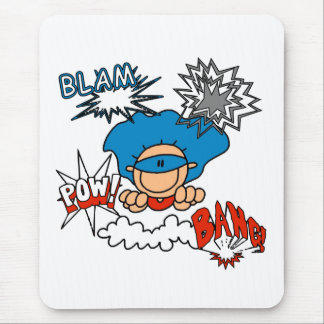 Super Boy Blam Bang Pow Mouse Pad