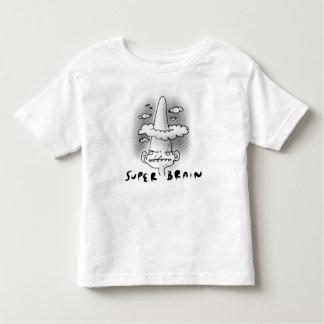 super brain cartoon style funny illustration toddler t-shirt