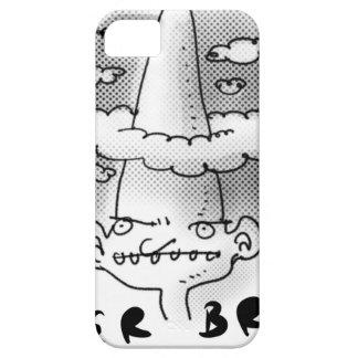 super brain cartoon style illustration iPhone SE/5/5s case