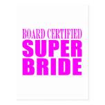 Super Brides : Board Certified Super Bride Postcard