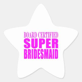 Super Bridesmaids : Pink Super Bridesmaid Star Sticker