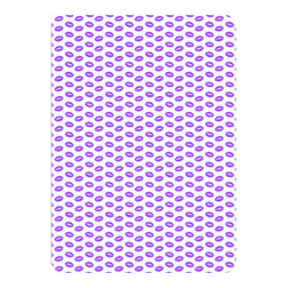 Super Bright Neon Purple Lips on White Card