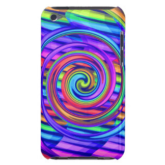 Super Bright Rainbow Spiral With Stripes Design iPod Touch Case