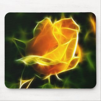 Super Bright Yellow Flower Mouse Pad