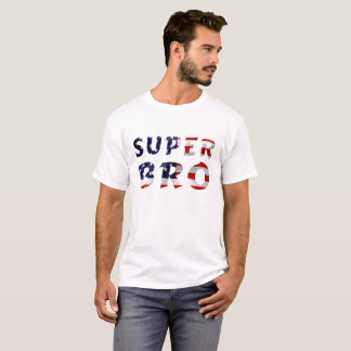 Super Bro and the American Flag T-Shirt