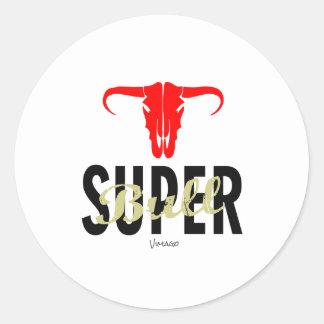 Super Bull by VIMAGO Classic Round Sticker