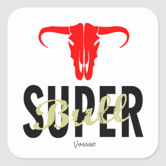 Super Bull by VIMAGO Square Sticker