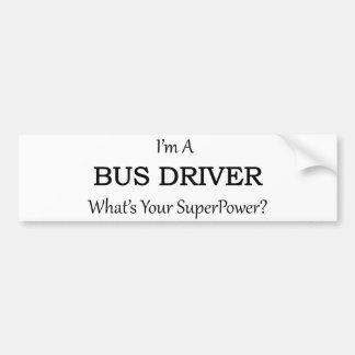 Super Bus Driver Bumper Sticker
