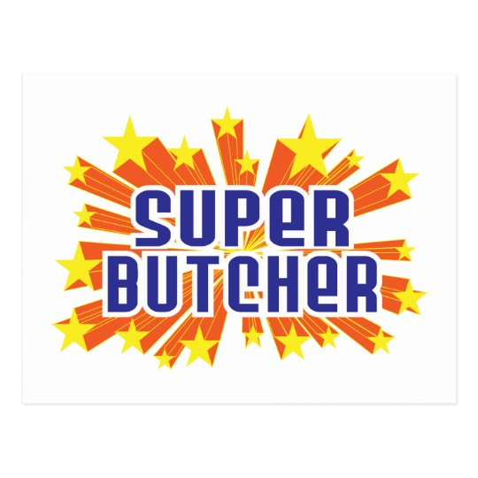 Super Butcher Postcard