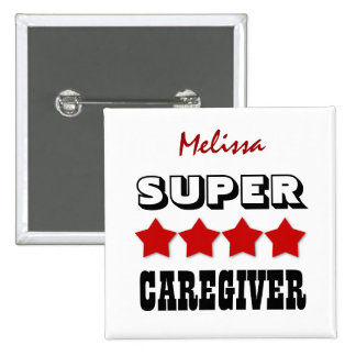 Super CAREGIVER with Stars RED V25 Button