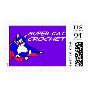 SUPER CAT CROCHET POSTAGE