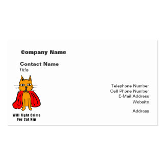 Super Cat Fight Crime For Catnip ( add your name ) Double-Sided Standard Business Cards (Pack Of 100)