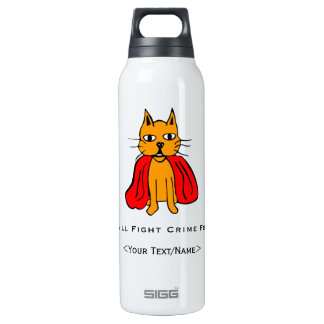 Super Cat Fight Crime For <Your Text/Name> 16 Oz Insulated SIGG Thermos Water Bottle