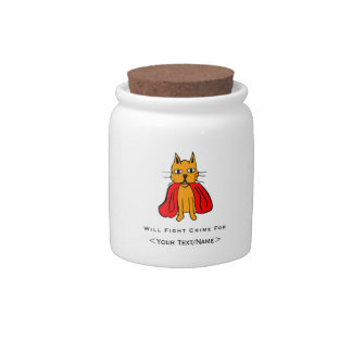 Super Cat Fight Crime For <Your Text/Name> Candy Jars