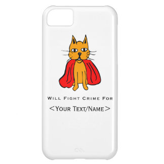 Super Cat Fight Crime For <Your Text/Name> Cover For iPhone 5C