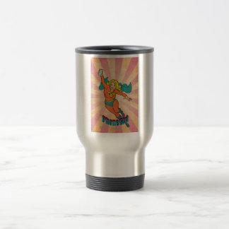 Super Cell Phone Girl Woman Coffee Mugs