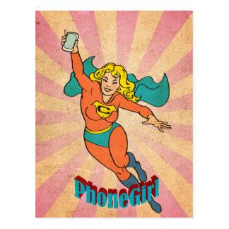 Super Cell Phone Girl/Woman Postcard