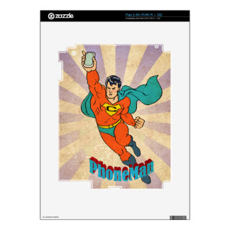 Super Cell Phone Man Decals For iPad 2