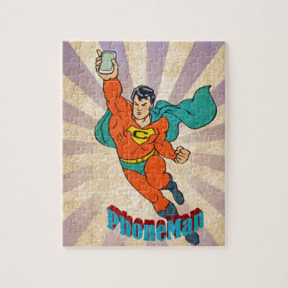 Super Cell Phone Man Jigsaw Puzzle