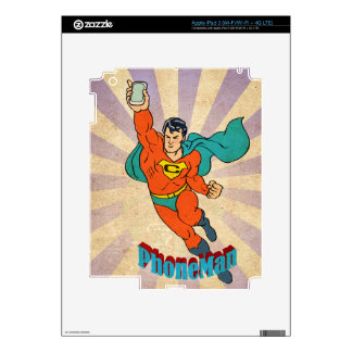 Super Cell Phone Man Skin For iPad 3