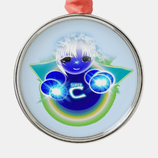 Super Celu, the healing and wellness doll for kids Metal Ornament