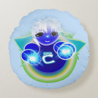 Super Celu, the healing and wellness doll for kids Round Pillow