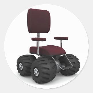 Super Chair_rgb001 Classic Round Sticker