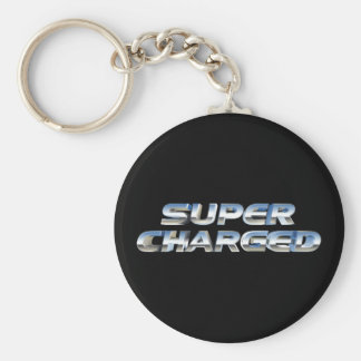 Super Charged Basic Round Button Keychain