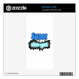 Super charged iPhone 4S decal