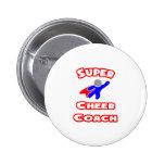 Super Cheer Coach Pinback Button