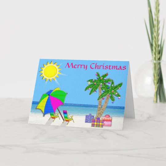 Beach Christmas Cards >> Super Cheery And Pretty Beach Christmas Cards Zazzle Com