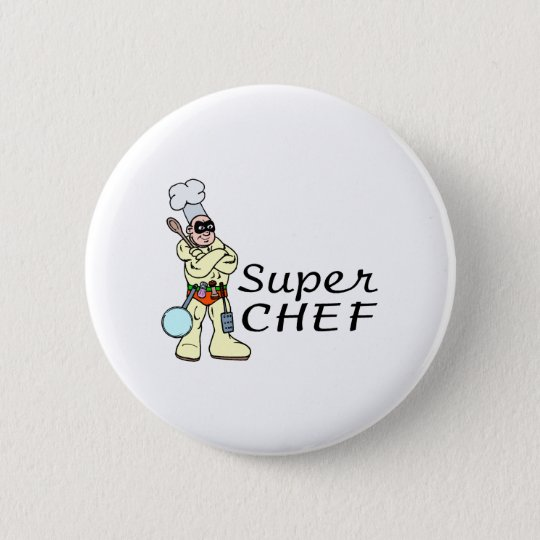 Super Chef Pinback Button