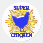 Super Chicken Classic Round Sticker