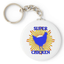 Super Chicken Keychain