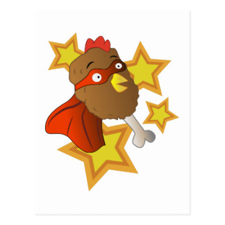 Super Chicken Leg Postcard