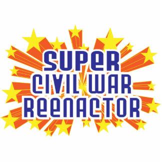 Super Civil War Reenactor Photo Sculpture Ornament