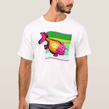 Beach Themed Super Colorful Retro VintageTropical Fish T-Shirt