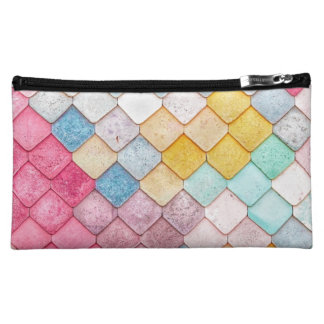 Super Colorful Tile Pattern Cosmetic Bag