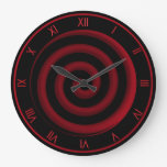 Super Cool Black and Red Spiral Wall Clock Wallclocks