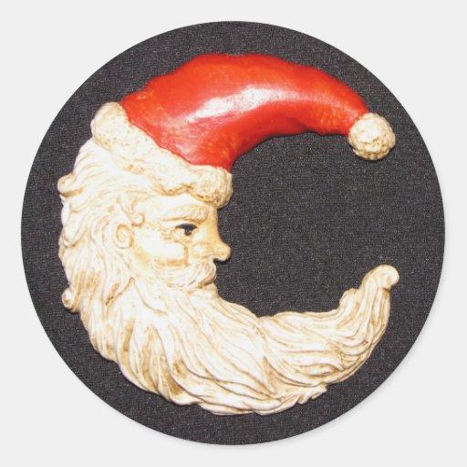 Super Cool Classic Round Santa Claus Stickers