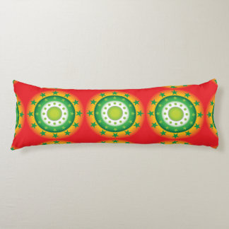 Super cool green circular star patterns pillow