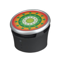 Super cool green circular star patterns speaker