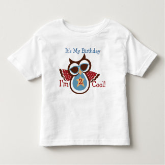 Super COOL Owl Birthday Party Shirt