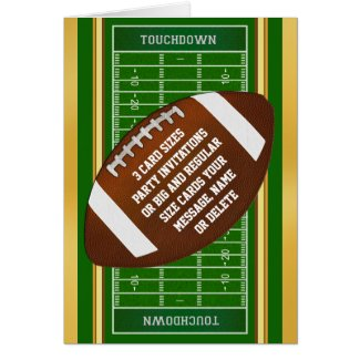 Super Cool Personalized Football Party Invitations