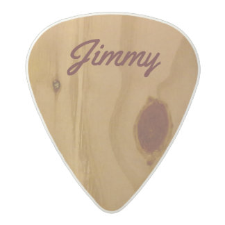 super cool & personalized wooden-like acetal guitar pick
