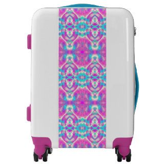 SUPER COOL Pink and Blue Abstract Pattern Luggage