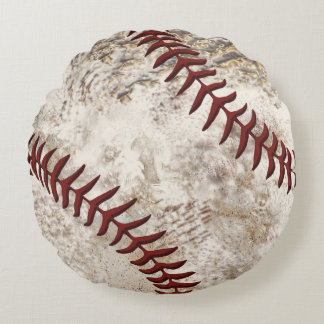 Super Cool Round Dirty Baseball Pillow for Guys